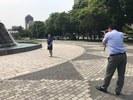 大通にてホームページ用写真撮影