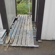 縞鋼板を設置しました。