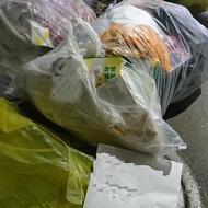ゴミ回収してもらいました